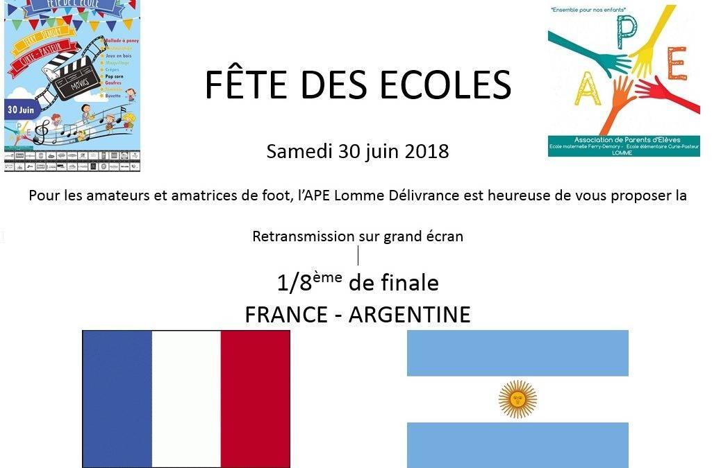 Retransmission du match France – Argentine